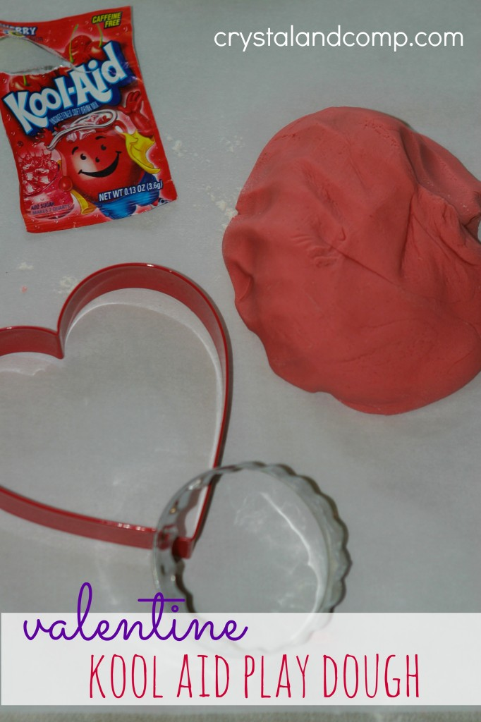 valentine kool aid play dough