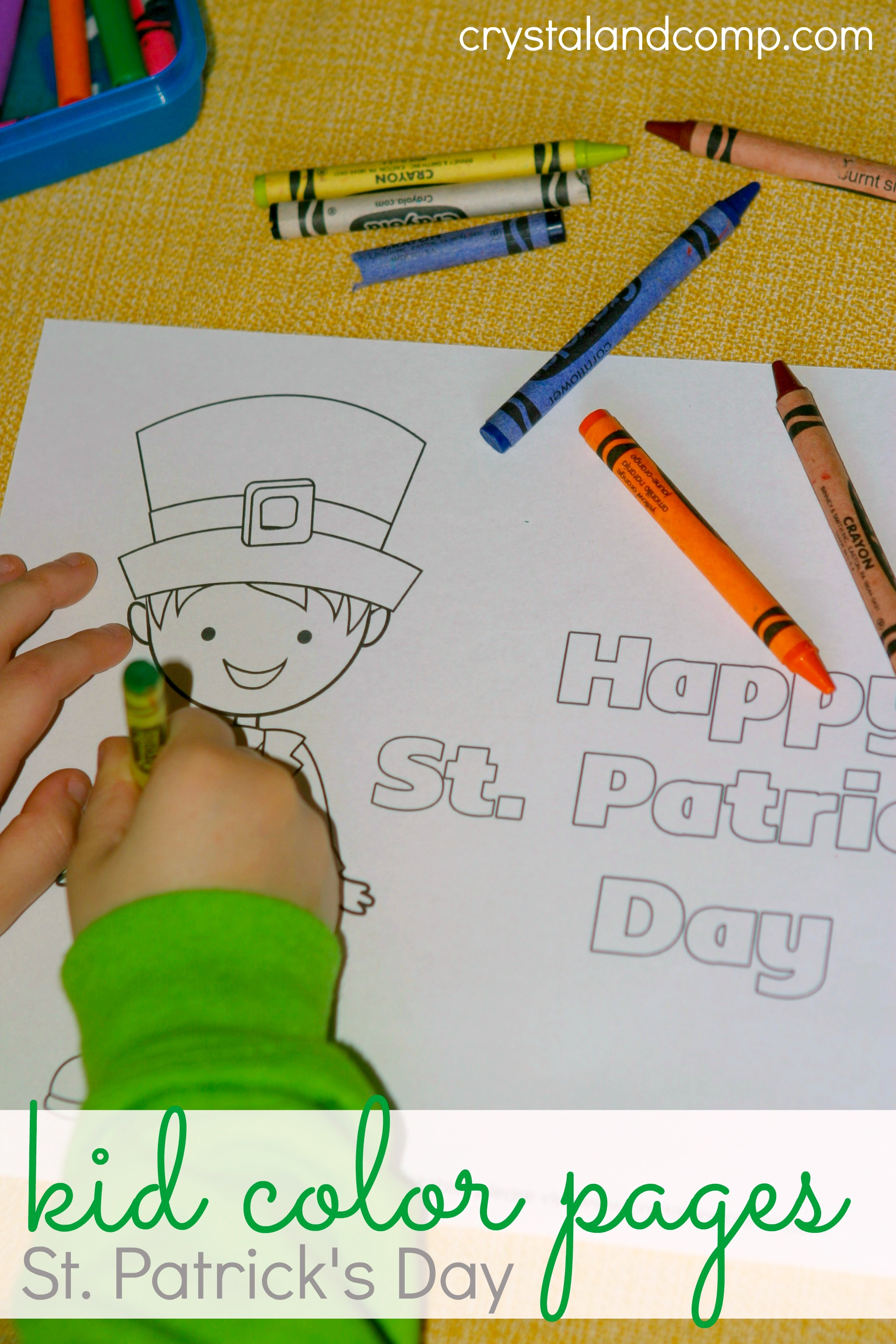 kid color pages for st patricks day - St Patricks Day Pictures To Color 2