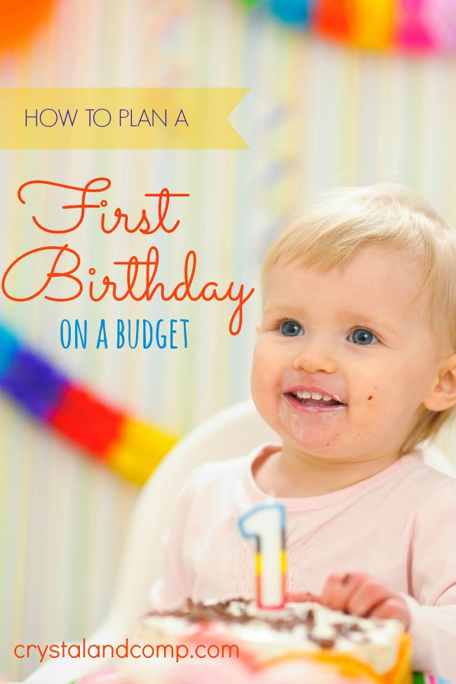 how to plan a first birthday on a budget