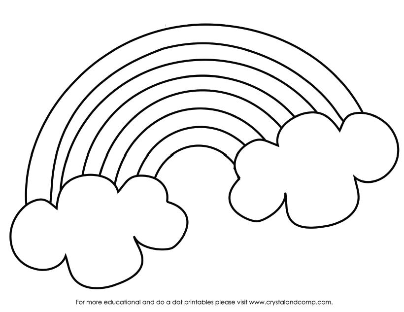 color the pot of gold that is at the end of the rainbow - St Patricks Day Coloring Pages