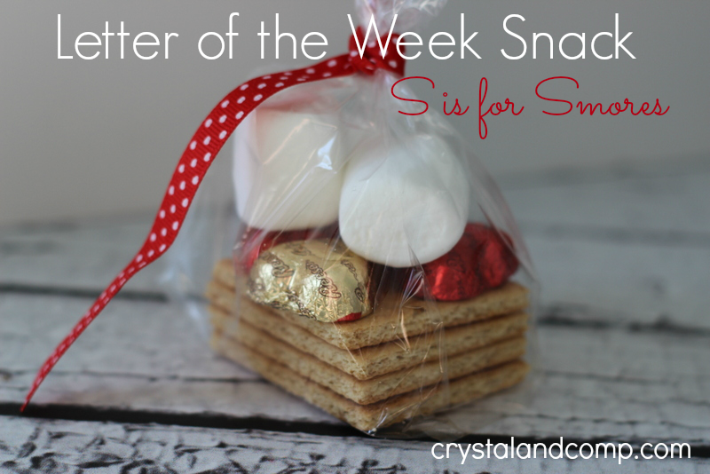 Letter of the Week Snack, Smores treat