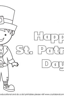 Kid Color Pages for St. Patrick's Day