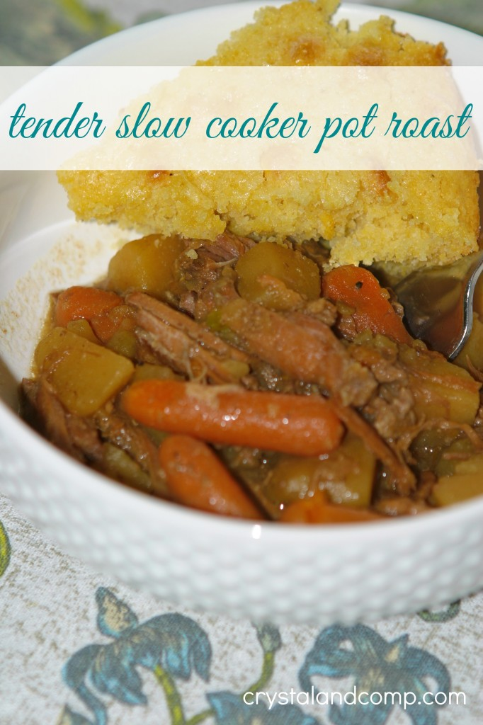 tender slow cooker pot roast