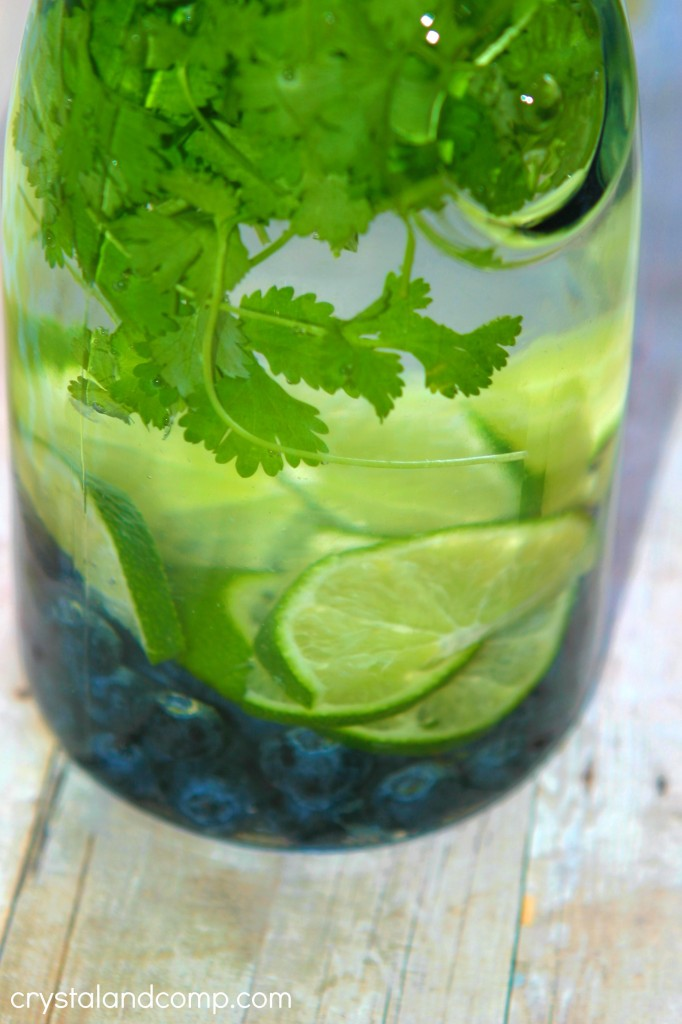 How to Make Fruit Infused Water Blueberry Lime Cilantro
