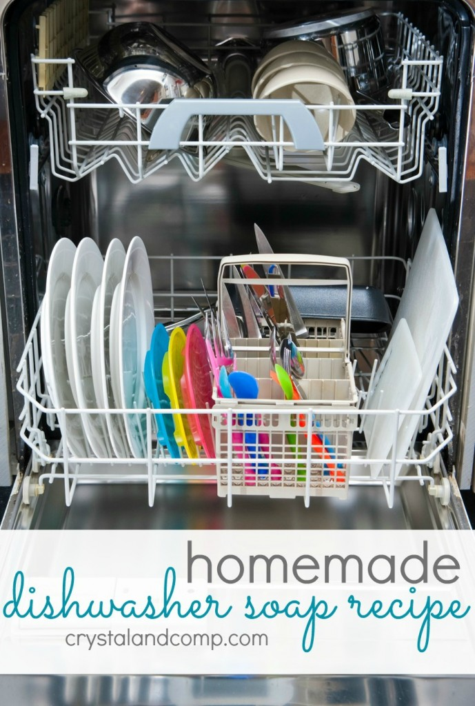 homemade dishwasher soap recipe #crystalandcomp