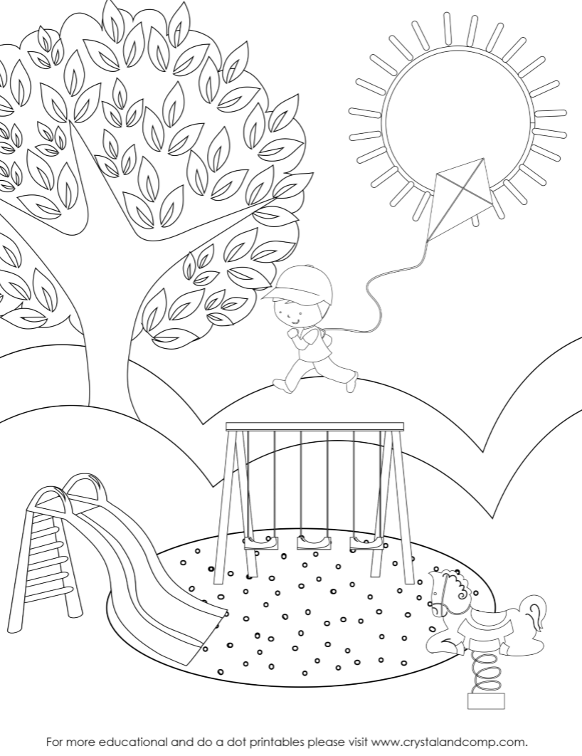 preschool do a dot printables color pages