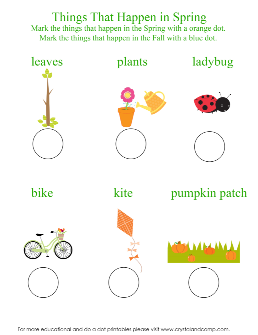 preschool do a dot printables what happens in spring