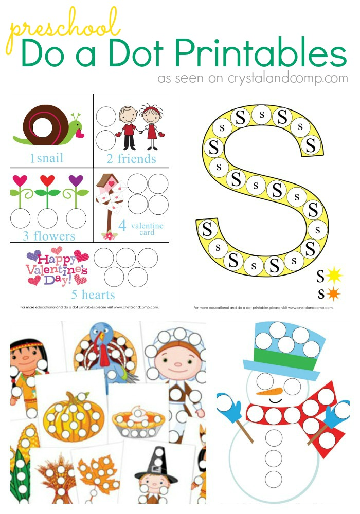 Preschool Do A Dot Printables