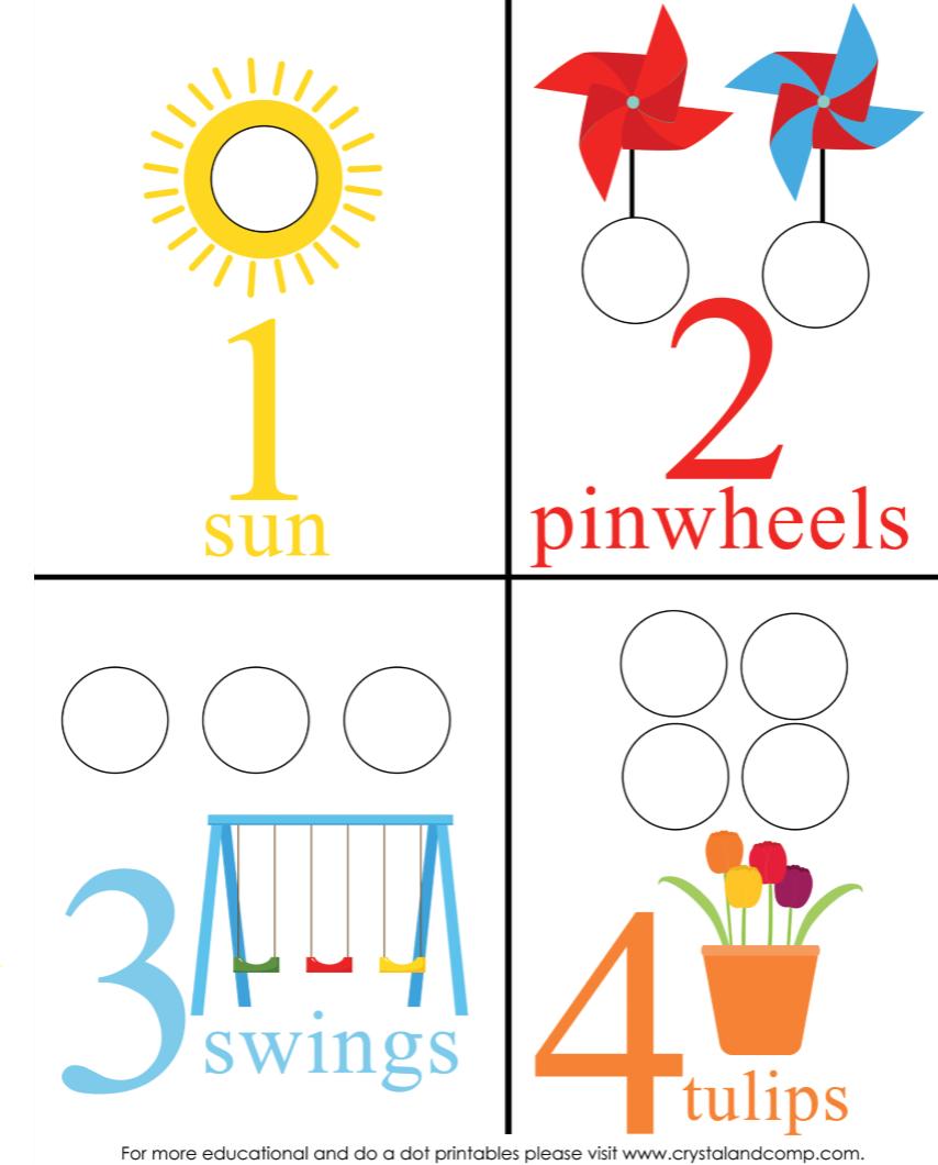 preschool do a dots spring counting