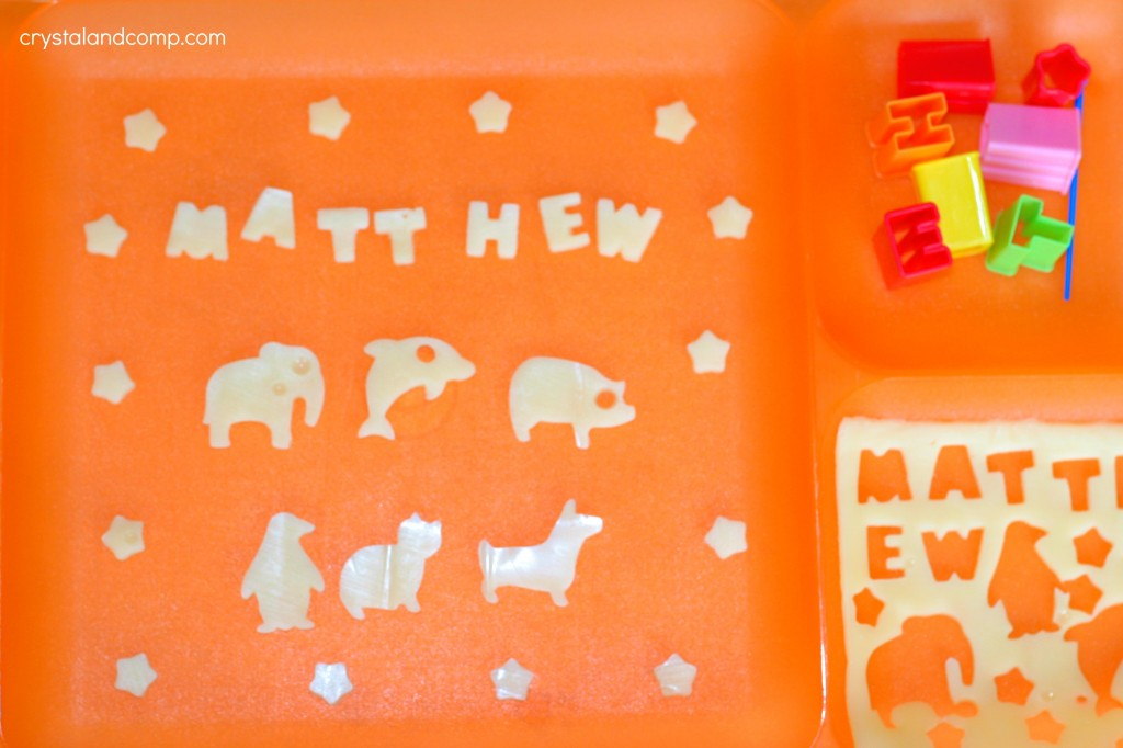 Fun Lunch Box Ideas make the alphabet