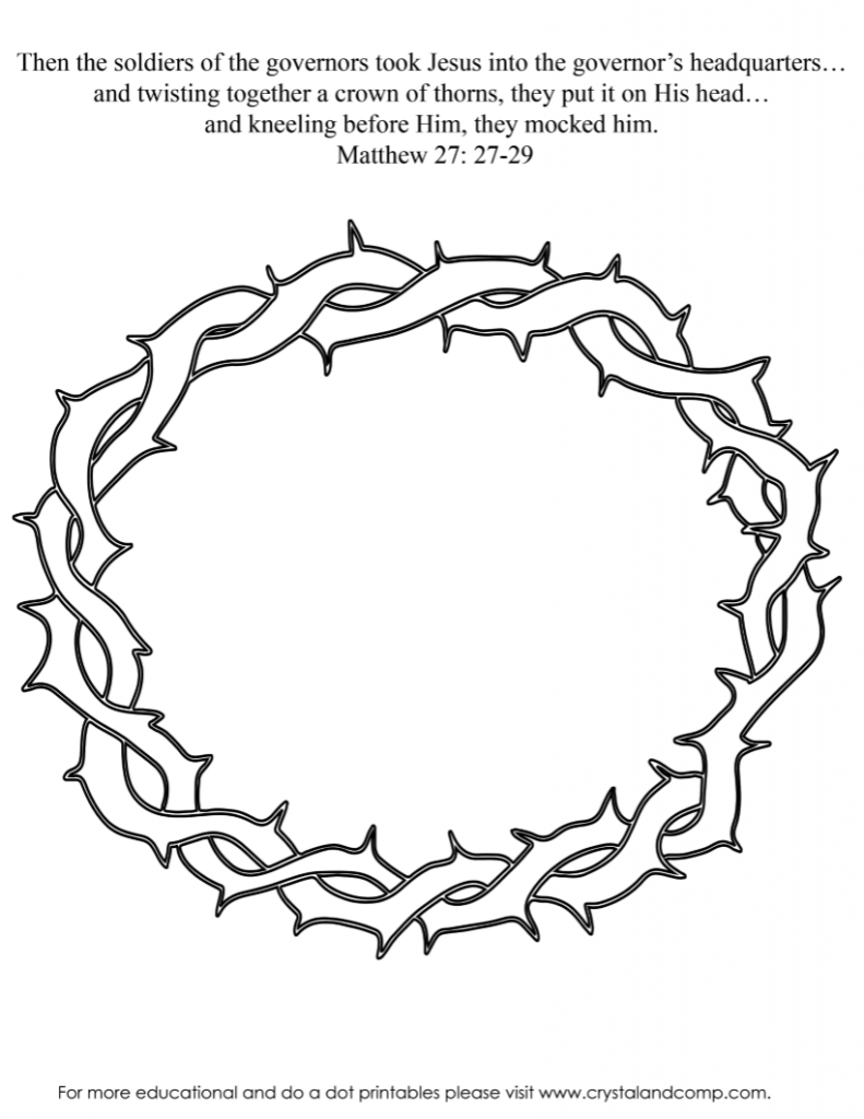 Thorn Crown Coloring Pages