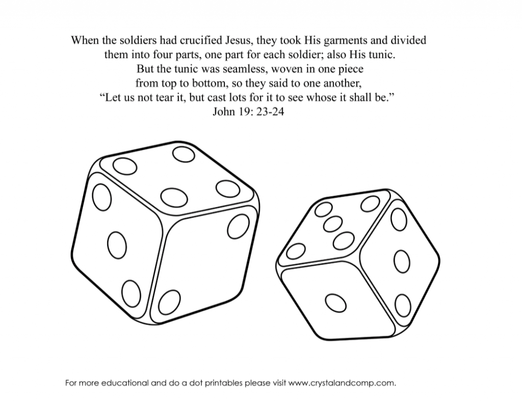 dice coloring pages - photo#19