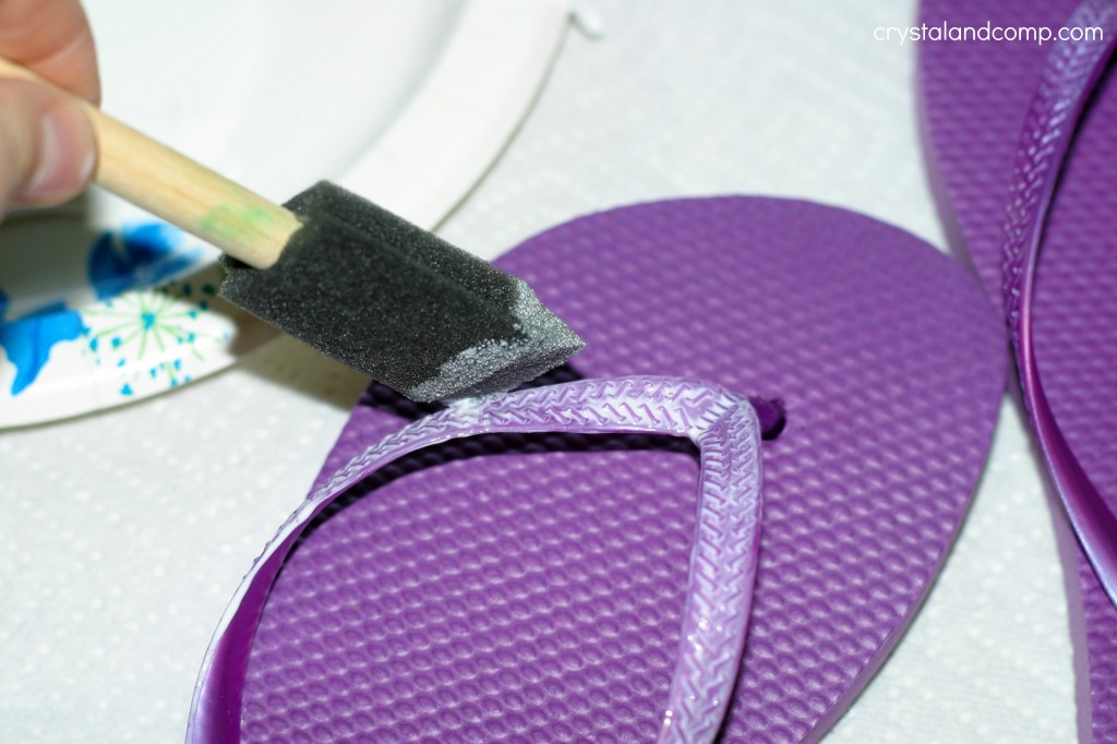 dollar flip flops from dollar tree