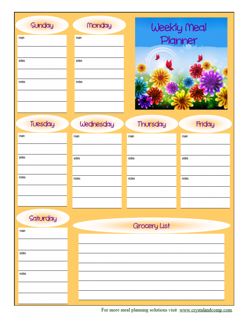 free printable meal planner may 2014