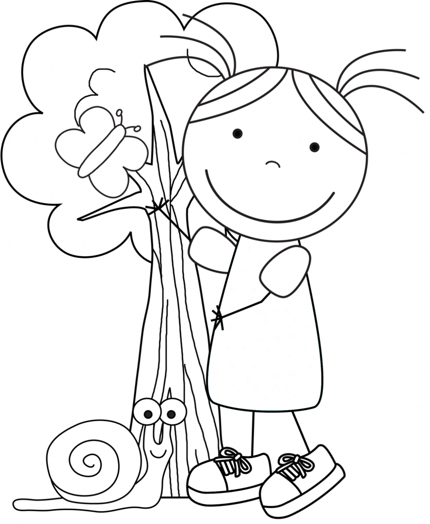 Earth day coloring sheets - Kid Color Pages Earth Day For Girls
