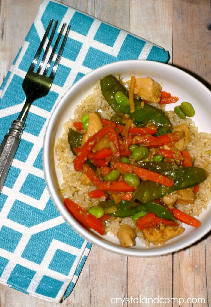 easy chicken stir fry using trader joes sauce