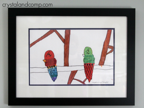 Frame Children's Art Work for the Home