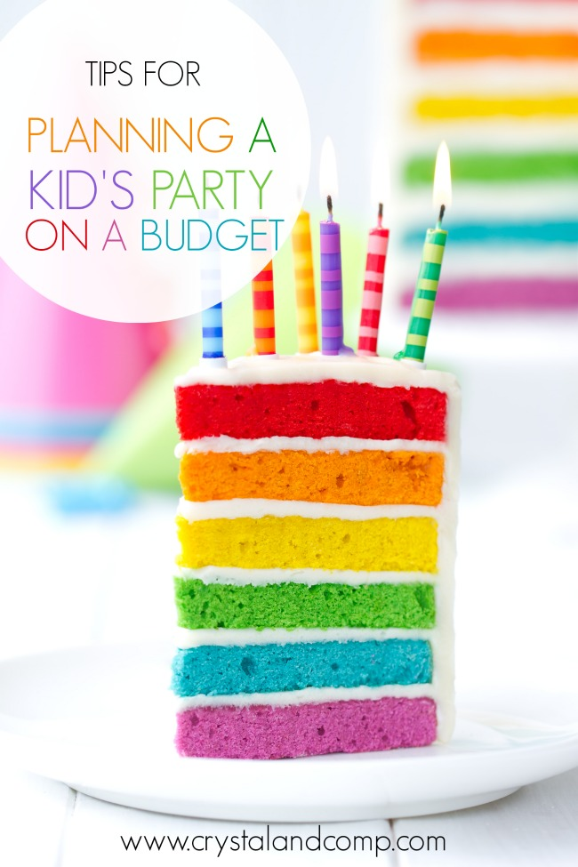 Kid S Birthday Party On A Budget