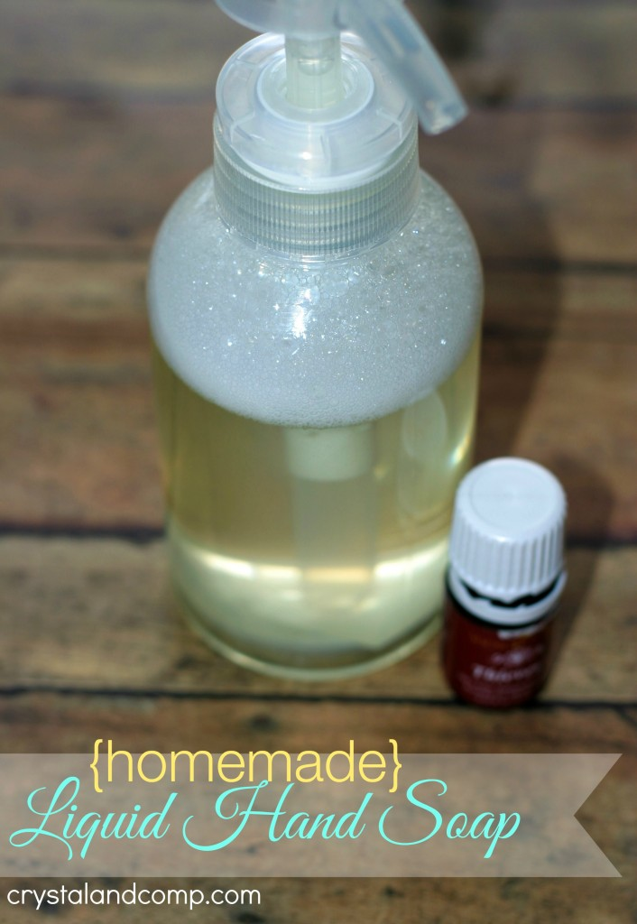 Homemade Liquid Hand Soap Using Thieves