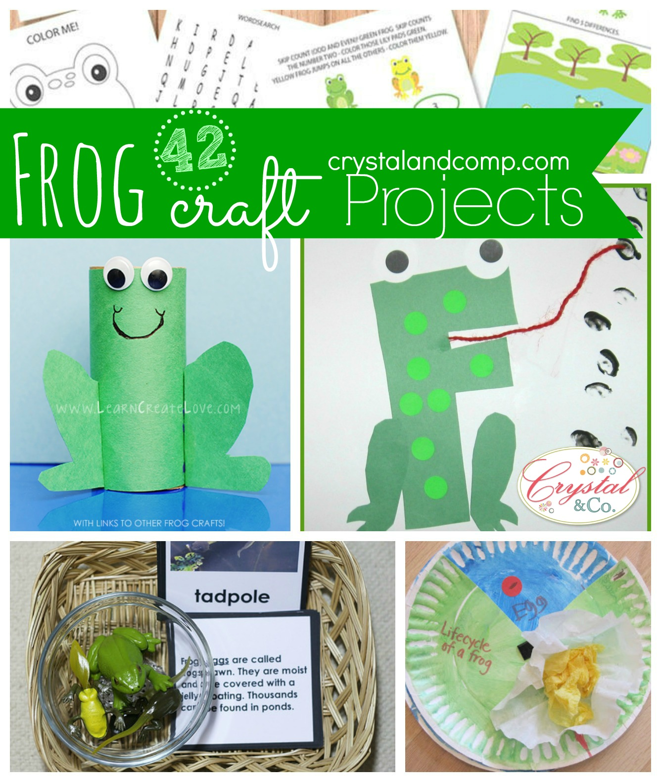 Activities Crafts Games: 42 Frog Craft Projects