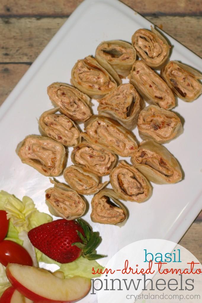 basil sun-dried tomato pinwheels using essential oil