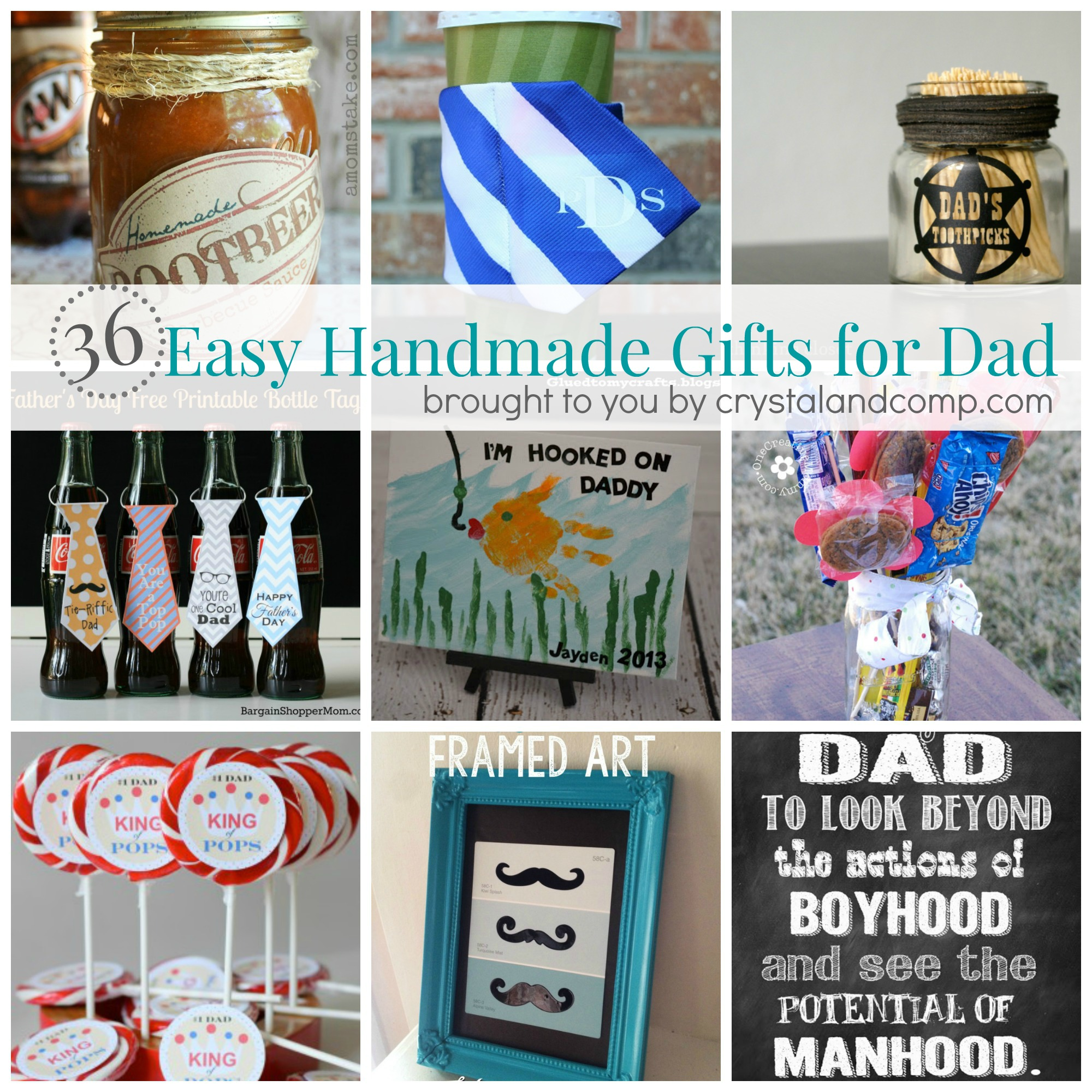 36 Easy Handmade Gift Ideas for Dad | CrystalandComp.com