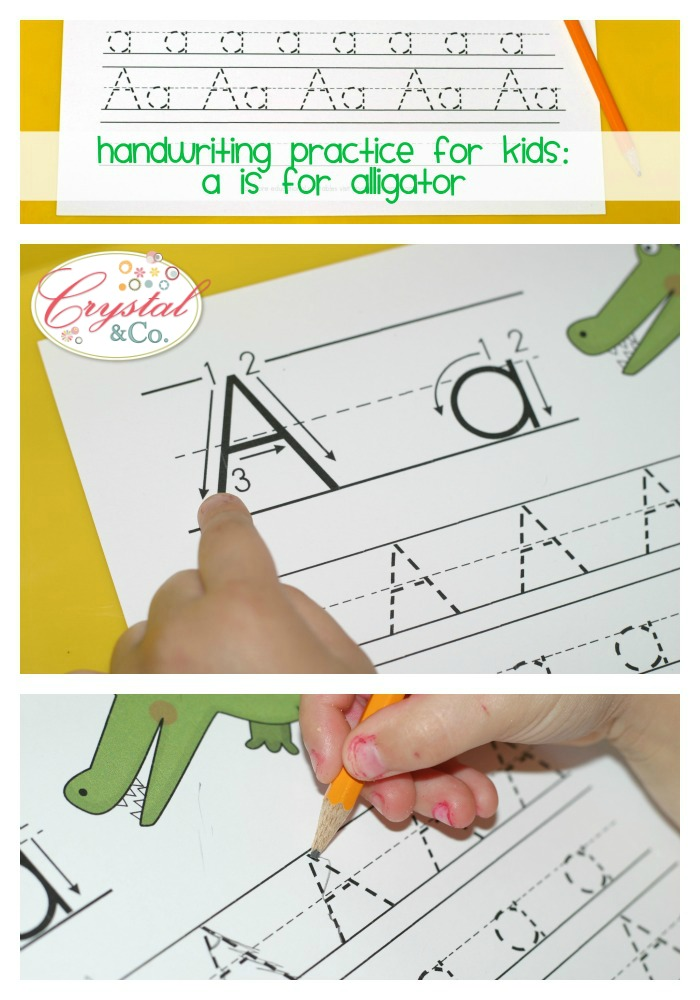 Handwriting Practice for Kids: A is for Alligator ...