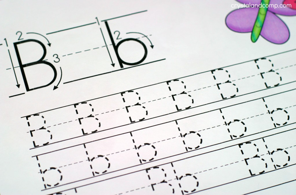 handwriting sheets for kids how to make the letter b