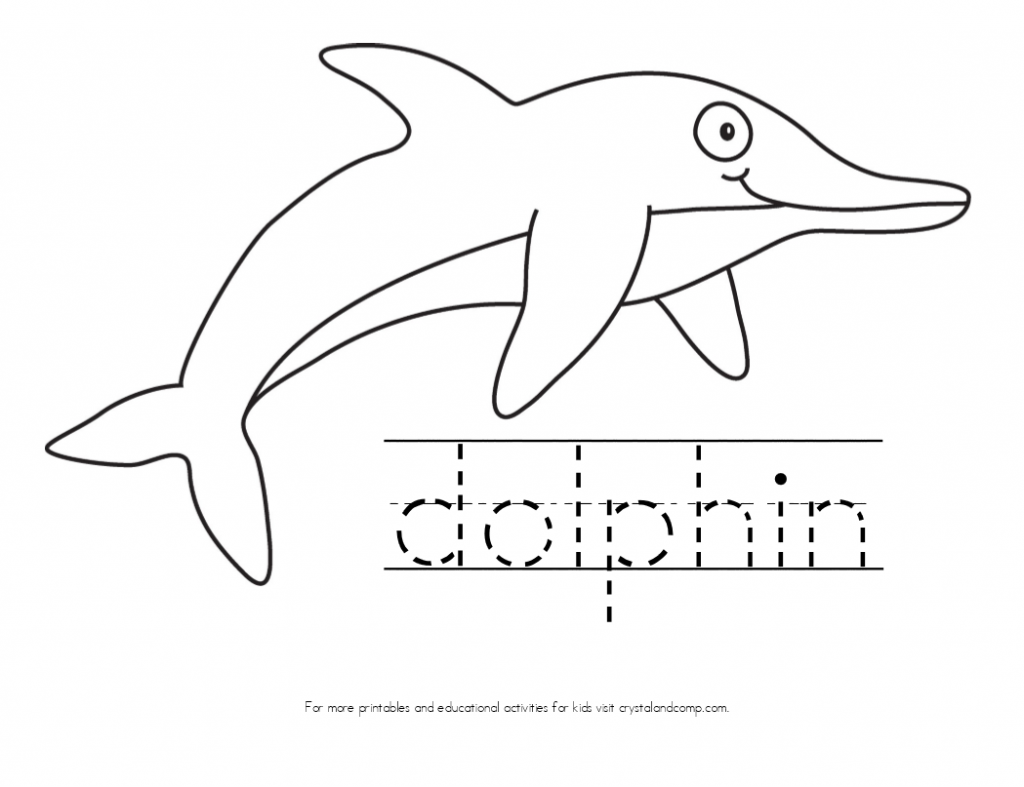kid color pages dolphin