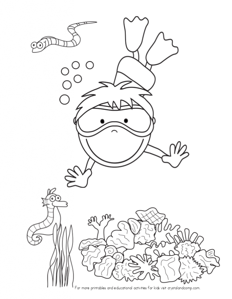 water themed coloring pages - photo#1