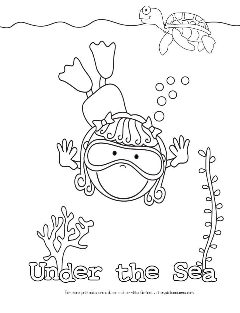 coloring pages of the ocean - photo#30