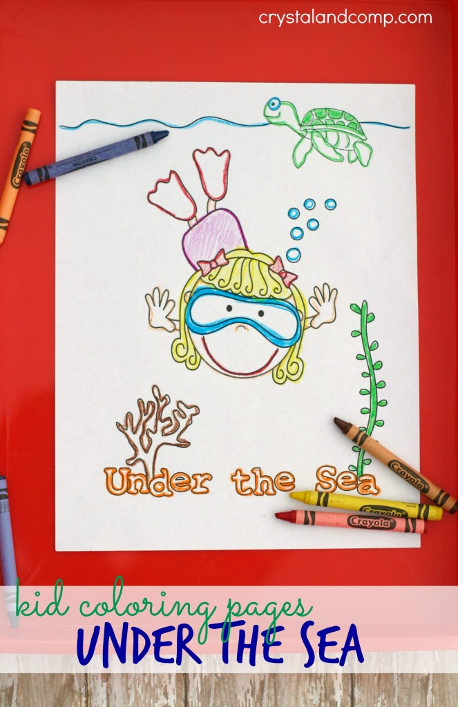 kid coloring pages under the sea
