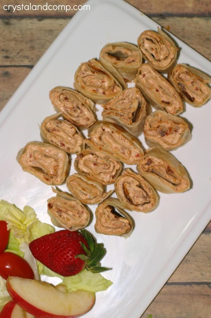 pinwheel appetizers using basil essential oil