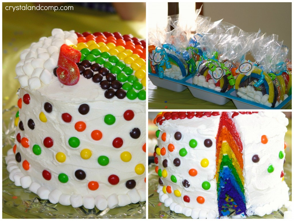 rainbow birthday cake party