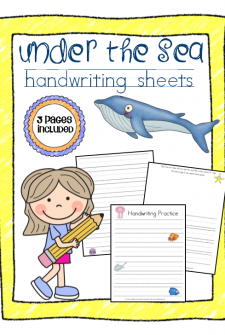 Under the Sea Themed Handwriting Sheets (Perfect for Story Writing and Vocabulary)