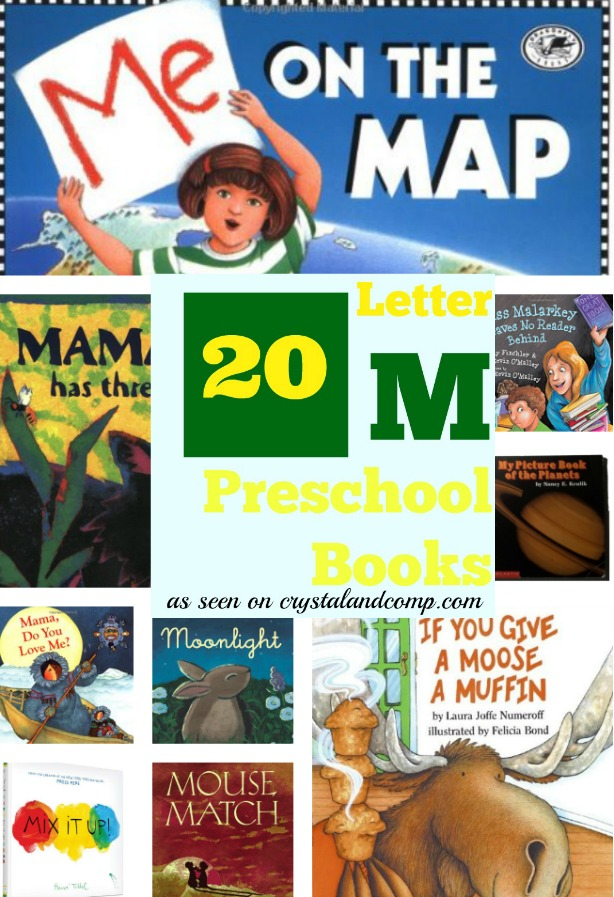 20 Letter M Preschool Books Collage