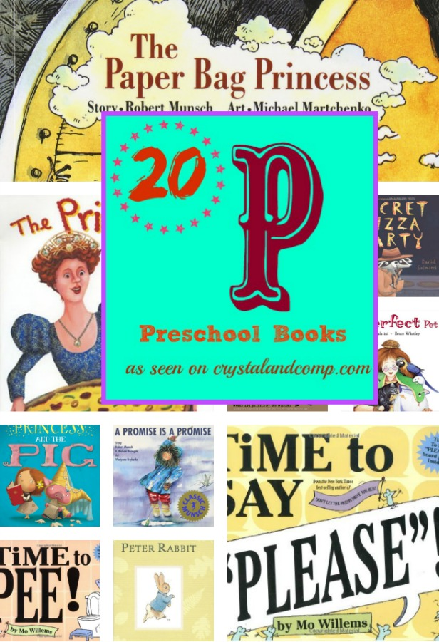 20 preschool books for the letter P