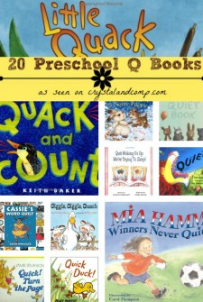 20 Preschool Q Books collage