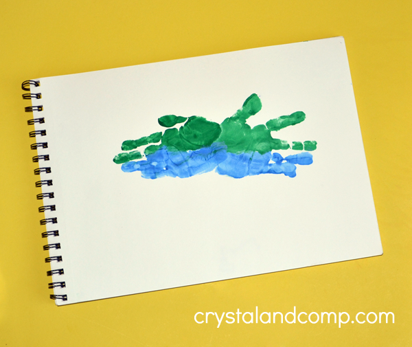 Hand Print Art - A is for Alligator