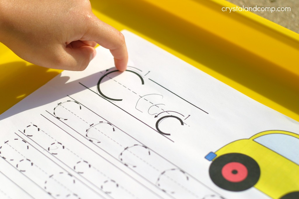 Handwriting Practice for Kids trace the letter Cc