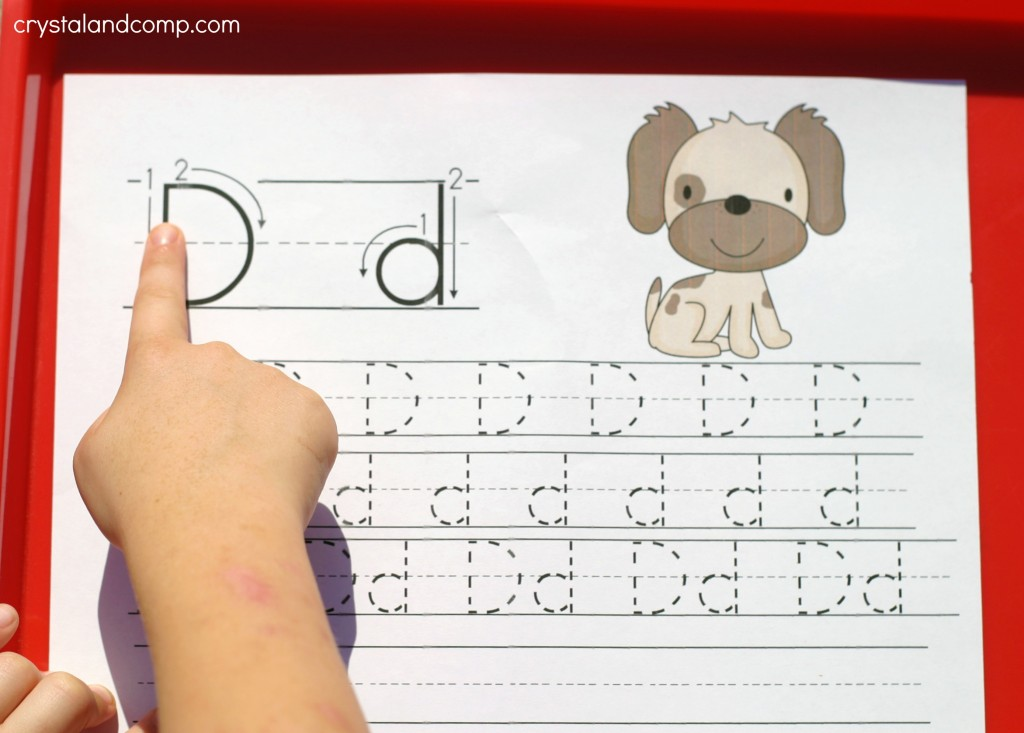 d is for dog letter tracing