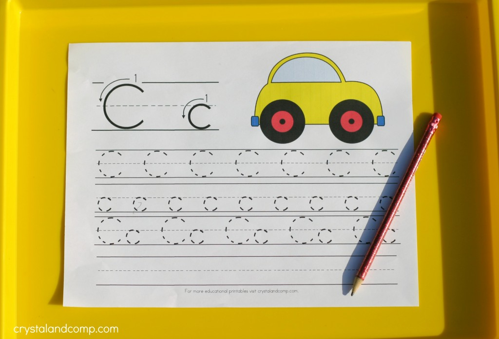 handwriting for kids c is for car