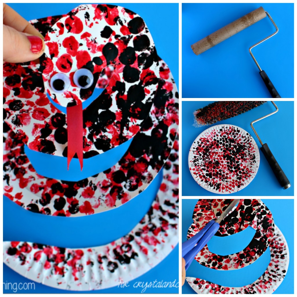 paper plate snake craft for kids