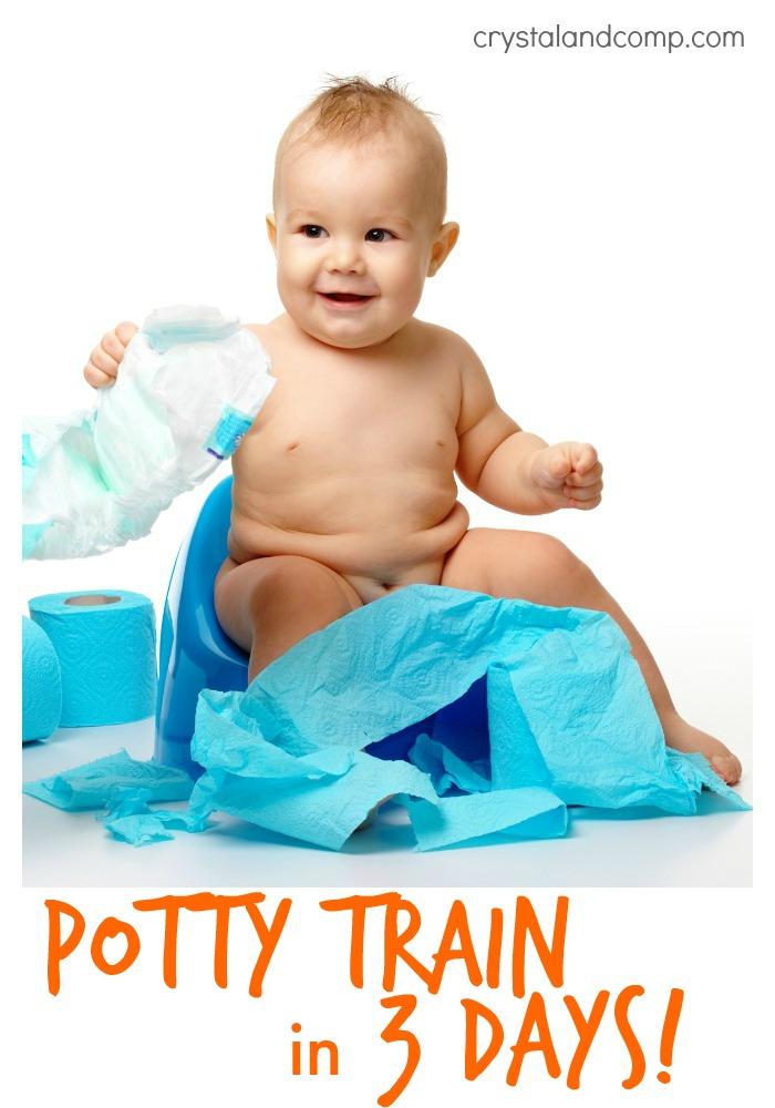 potty train in three days