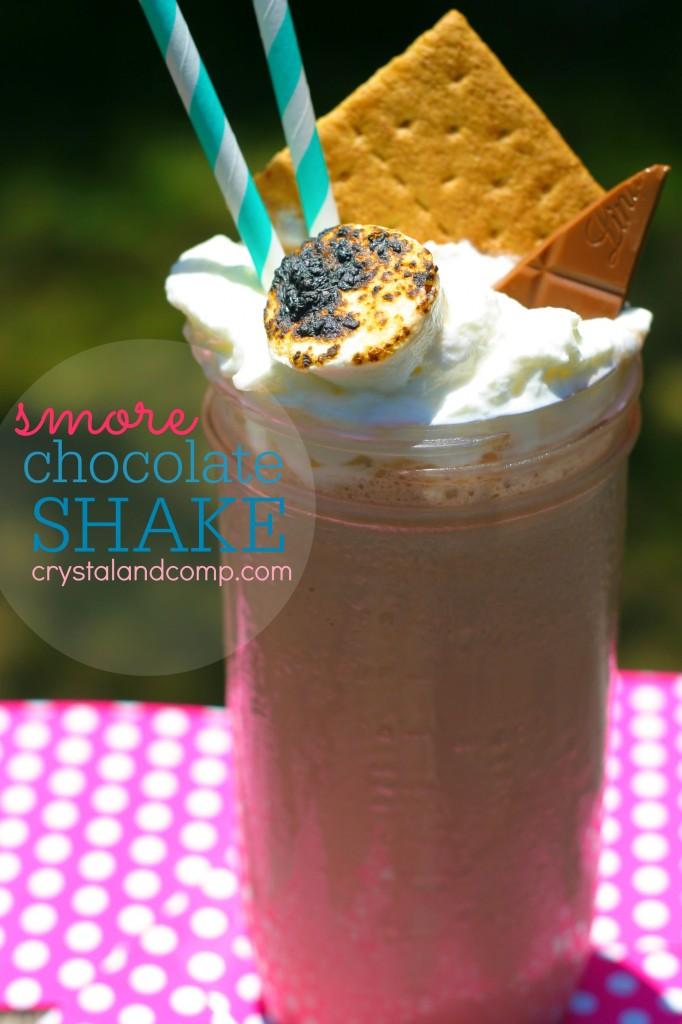 smore chocolate shake