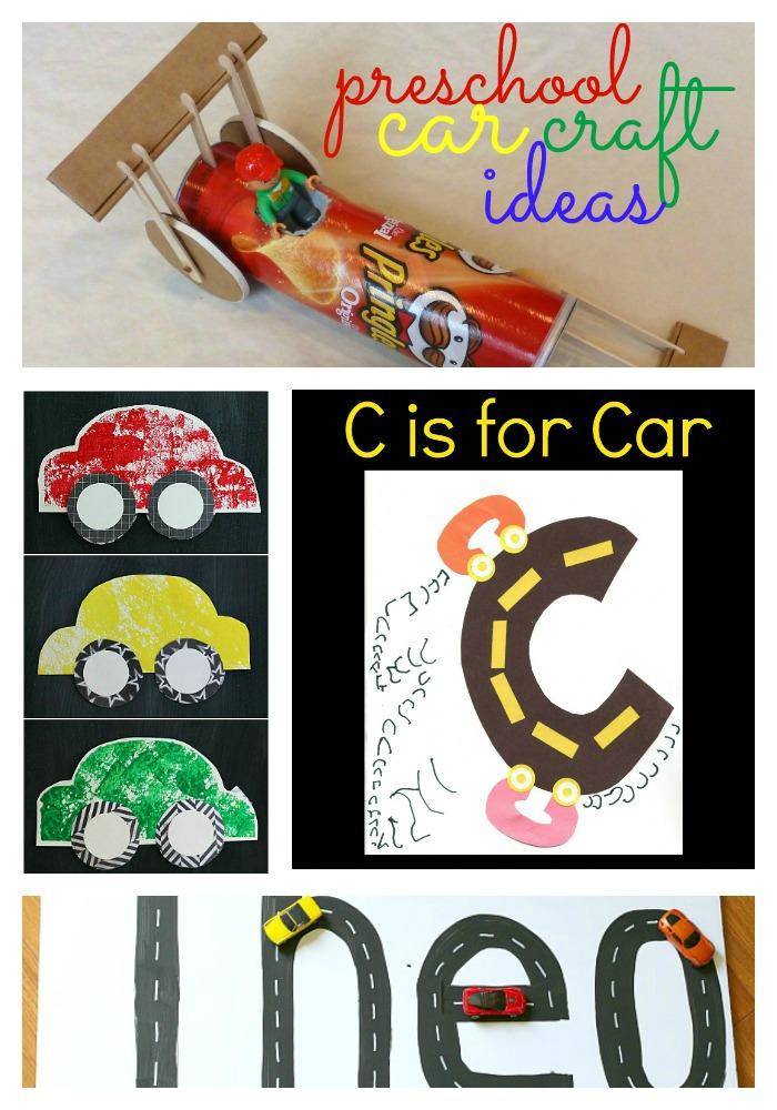 19 Preschool Car Craft Ideas