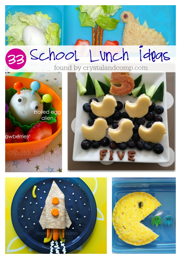 33 school lunch ideas found by crystalandcomp.com