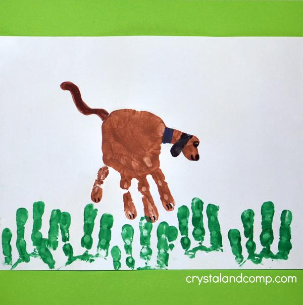 Hand Print Dog Craft