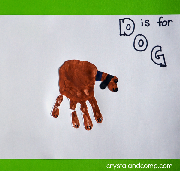 Hand Print Art: D is for Dog Craft