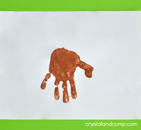 Hand Print Dog Craft